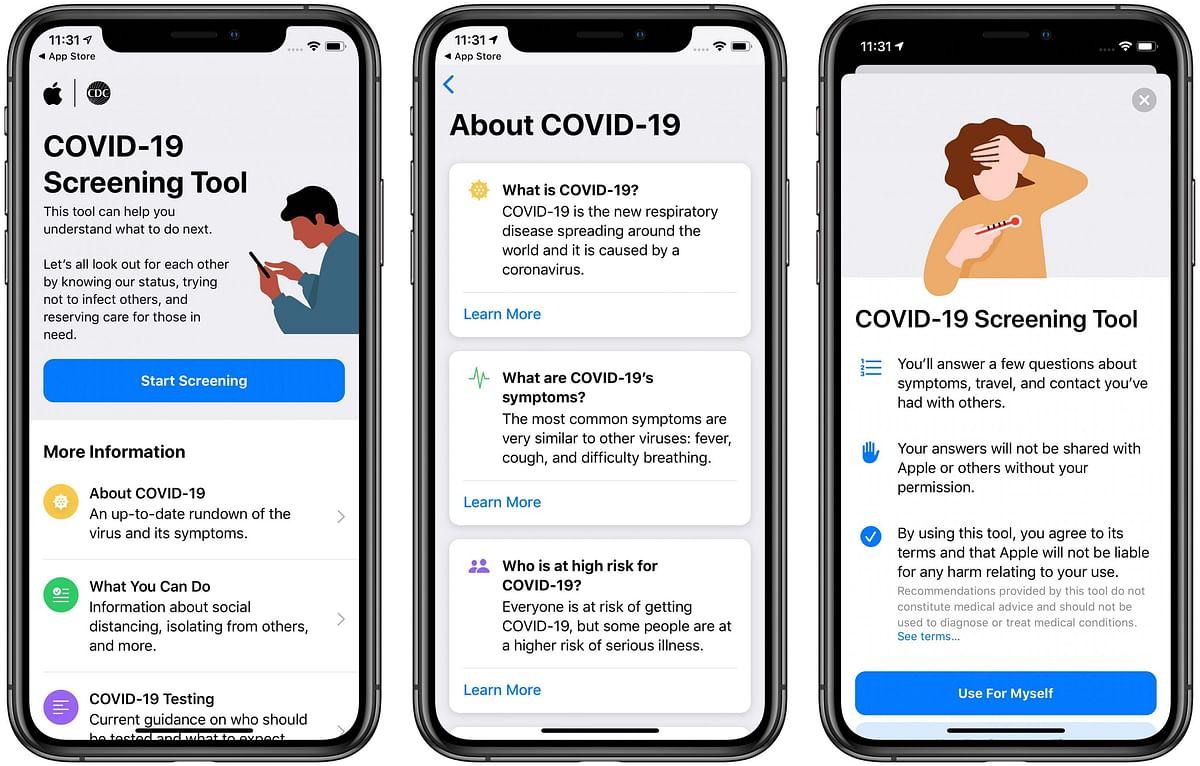 Apple ने लॉन्च की COVID-19 स्क्रीनिंग वेबसाइट और ऐप