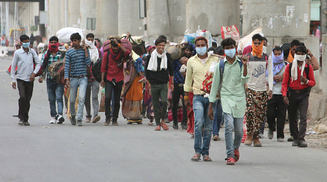 """Police action can be taken if migrant laborers travel"""": Gujarat ..."""