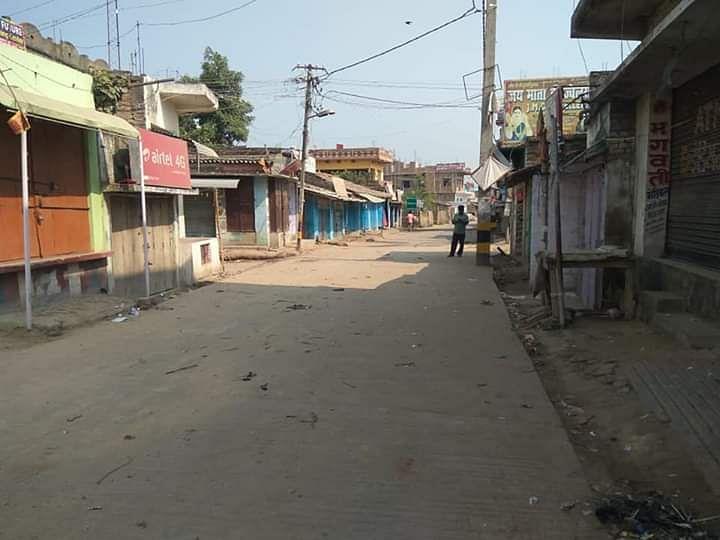 दरभंगा में जनता कर्फ्यू के दौरान खाली सड़क