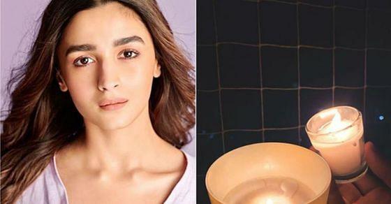 आलिया भट्ट ने मोमबत्ती जलाने की तस्वीर शेयर की.