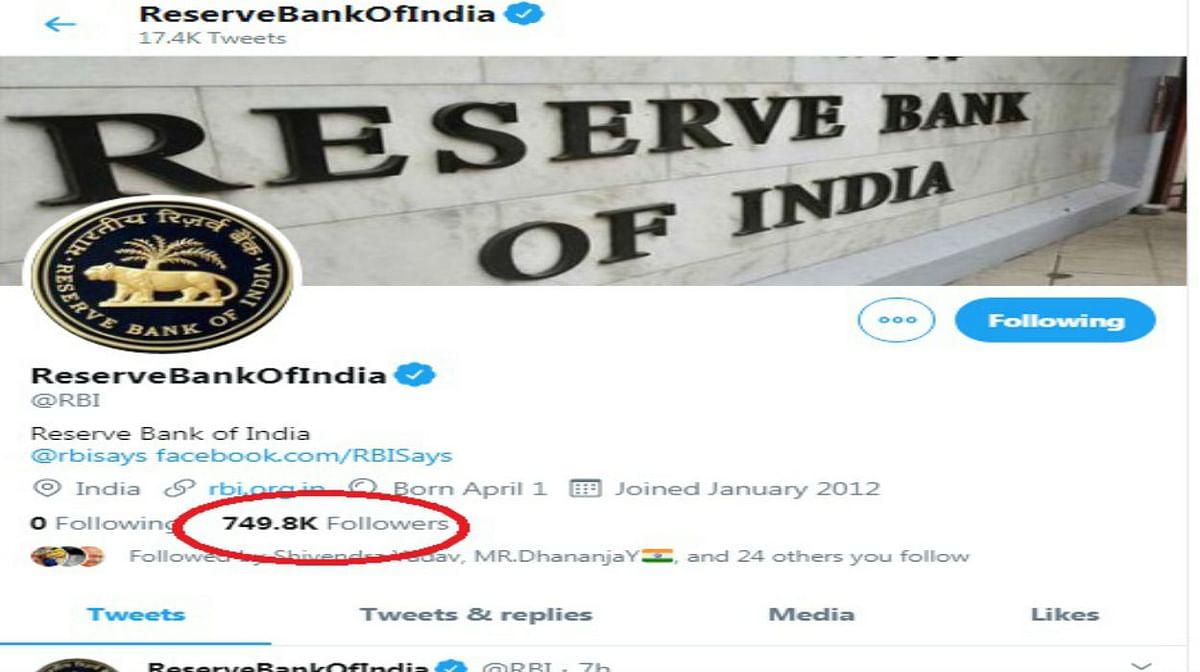 Lockdown में Twitter पर RBI का दिखा जलवा, फॉलोअर्स के मामले में US-Europe के केंद्रीय बैंकों को पछाड़ा