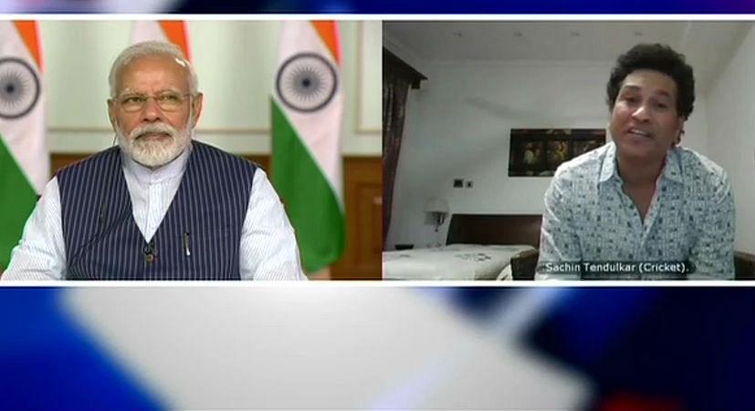 पीएम नरेंद्र मोदी ने सचिन, सौरव, कोहली सहित देश के 40 खिलाड़ियों से बात की, लॉकडाउन पर हुई चर्चा