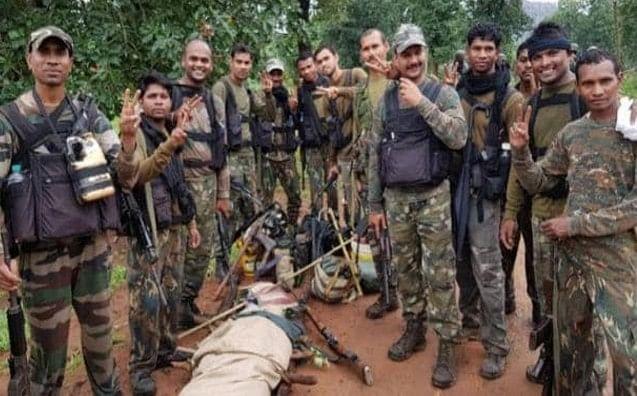 सुकमा में पांच लाख रूपये के इनामी नक्सली को सुरक्षा बलों ने मार गिराया