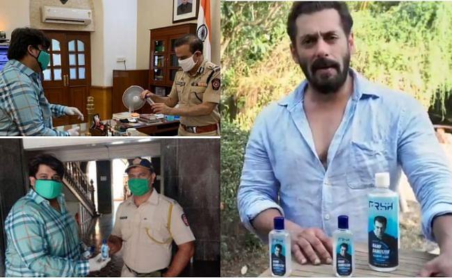 सलमान खान ने मुंबई पुलिस को दान किए 1 लाख सैनिटाइजर