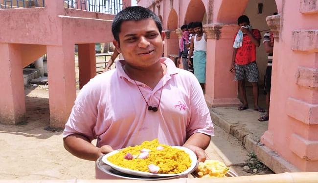 खाने को लेकर चर्चा का विषय बने क्वॉरेंटिन सेंटर में राजस्थान से आये अनूप ओझा, शरमाते हुए कहा- 20 लिट्टी, 53 रोटी और...