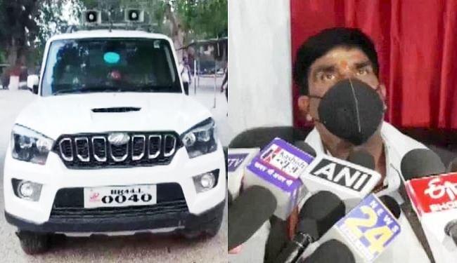 बक्सर कांग्रेस विधायक की गाड़ी से पकड़ायी आठ बोतल विदेशी शराब, चार गिरफ्तार