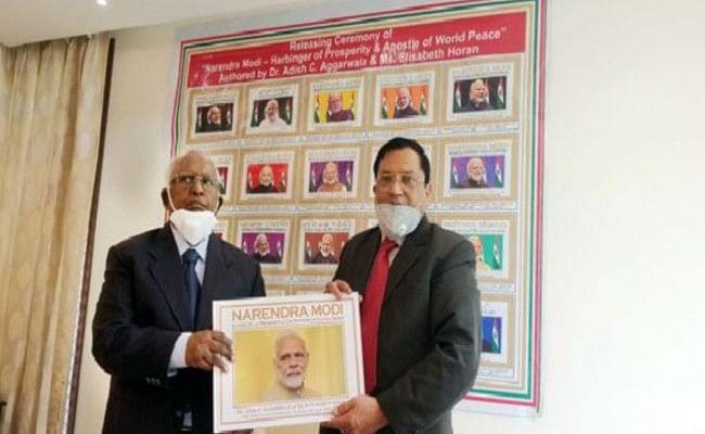 प्रधानमंत्री नरेंद्र मोदी के जीवन पर लिखी नयी पुस्तक का विमोचन