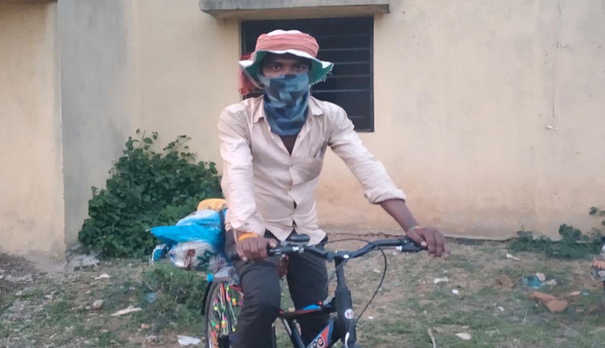 Lockdown Effect : मुबंई से 13 दिन में 1800 किमी साइकिल चलाकर कसमार पहुंचा युवक, जांच के बाद भेजा गया क्वारेंटाइन सेंटर