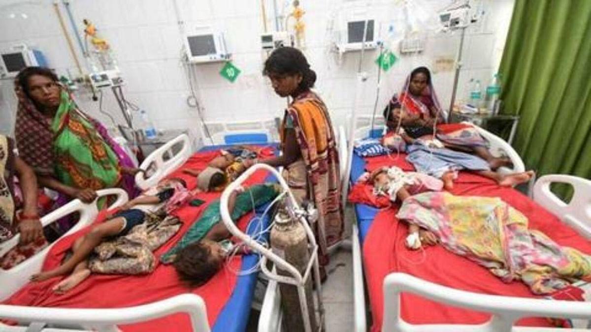 तेज बुखार व चमकी से पीड़ित सात बच्चे भर्ती
