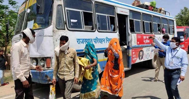 यूपी, एमपी, हिमाचल और उत्तराखंड के लिए राजस्थान रोडवेज ने 37 श्रमिक स्पेशल बसें चलायीं