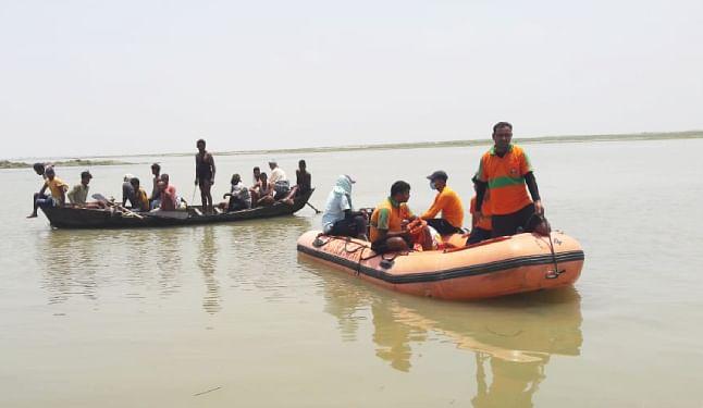 गंगा में नाव डूबने से लापता हुए सात लोगों में एक का शव बरामद, छह लापता लोगों की खोज जारी