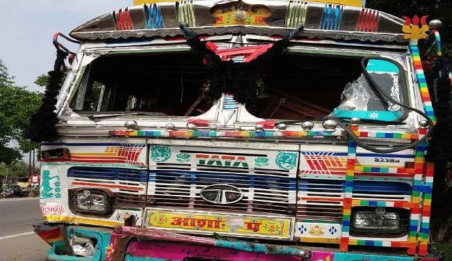 नवगछिया में दो ट्रकों में भिड़ंत, चार लोगों की मौत, मृतकों में दो नालंदा और झारखंड के दंपत्ति शामिल