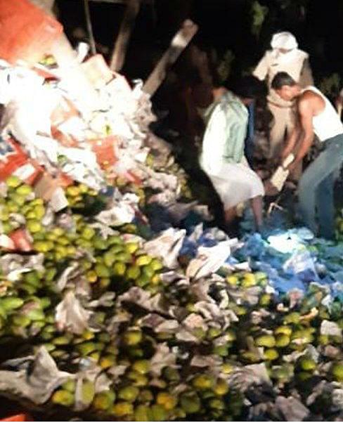 मध्य प्रदेश में ट्रक पलटने से यूपी के पांच मजदूरों की मौत, हैदराबाद से चोरी छिपे आम लदे ट्रक से लौट रहे थे घर