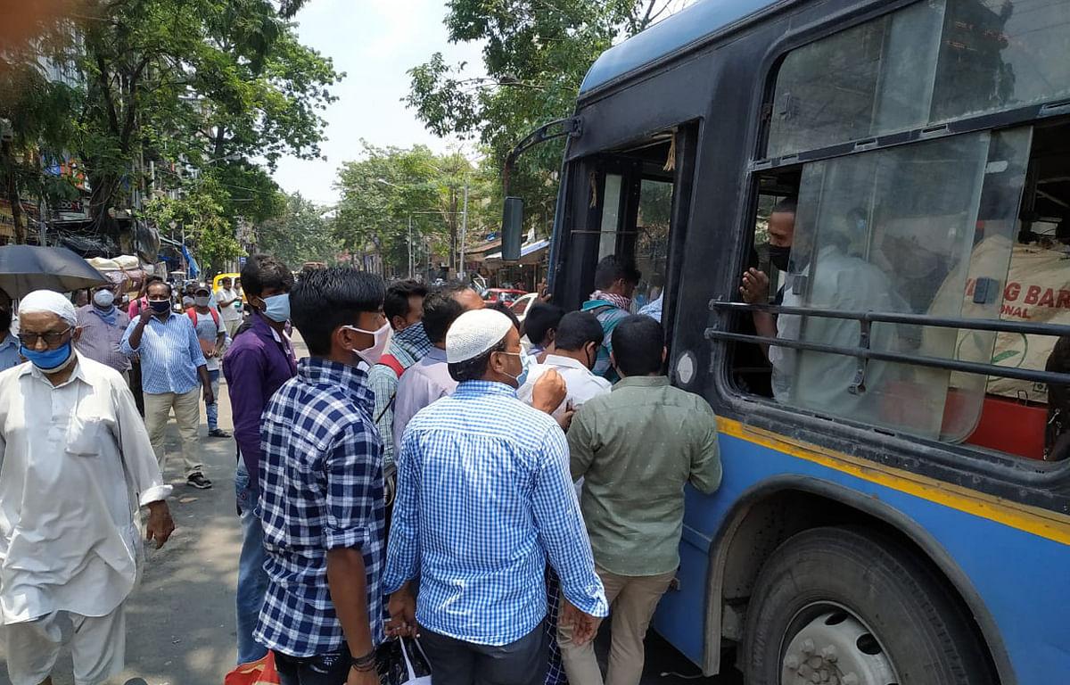 अनलॉक 1 : बंगाल में खुल गये सारे दफ्तर, बसों में दिखी भीड़, सोशल डिस्टैंसिंग का नहीं हो रहा पालन