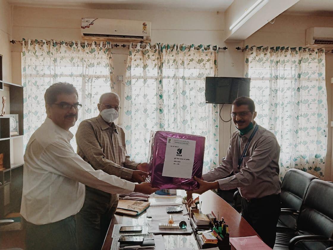 झारखंड राज्य ग्रामीण बैंक ने मजदूरों के लिए उपलब्ध कराये 500 मास्क