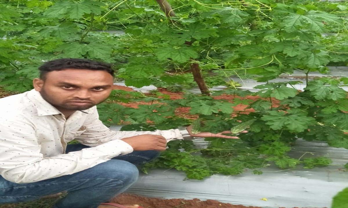 रामगढ़ के किसान चंदू आत्मनिर्भर बनने की सीखा रहे हैं गुर