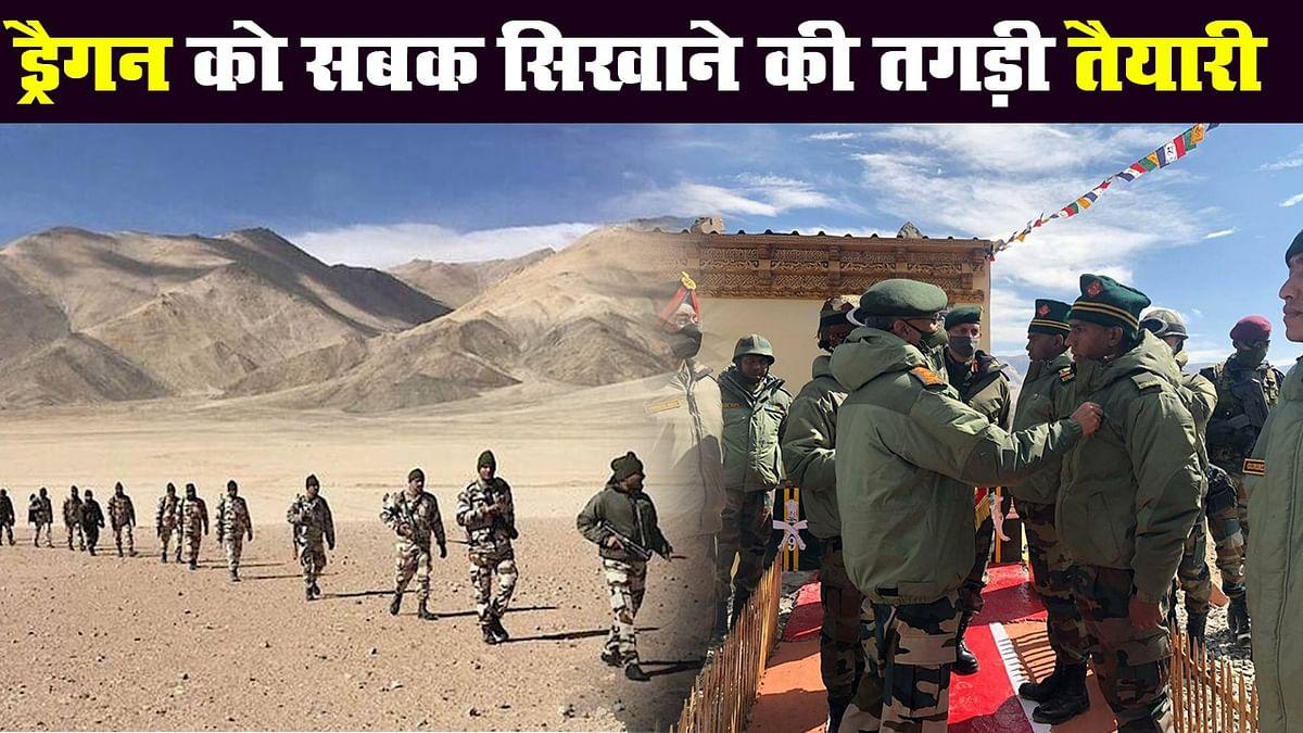 Indian Army Chief Narwane का Ladakh का दौरा, तैयारियों का लिया जायजा