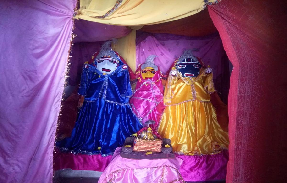 Jagannath Rath Yatra 2020 : रंका के ठाकुरबाड़ी मंदिर में महाप्रभु की हुई आराधना, रथयात्रा नहीं निकलने से मायूस हुए श्रद्धालु