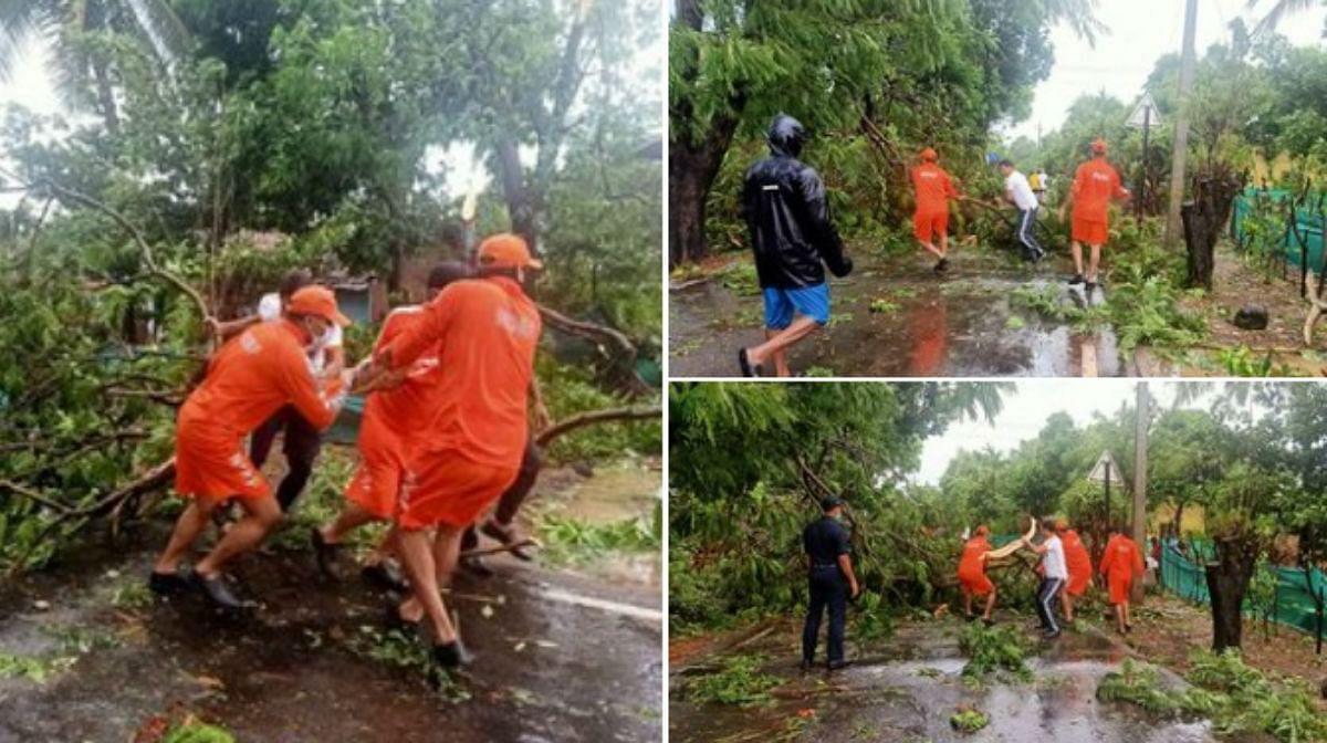 Cyclone Nisarga Live Updates, Video, Photos : चक्रवाती तूफान 'निसर्ग' से महाराष्ट्र में एक की मौत, तसवीरों और वीडियो में देखें तबाही का मंजर