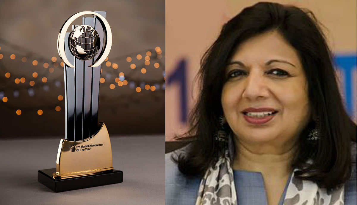 किरण मजूमदार शॉ को मिला 'ईवाई वर्ल्ड एंटरप्रेन्योर ऑफ द ईयर 2020' पुरस्कार