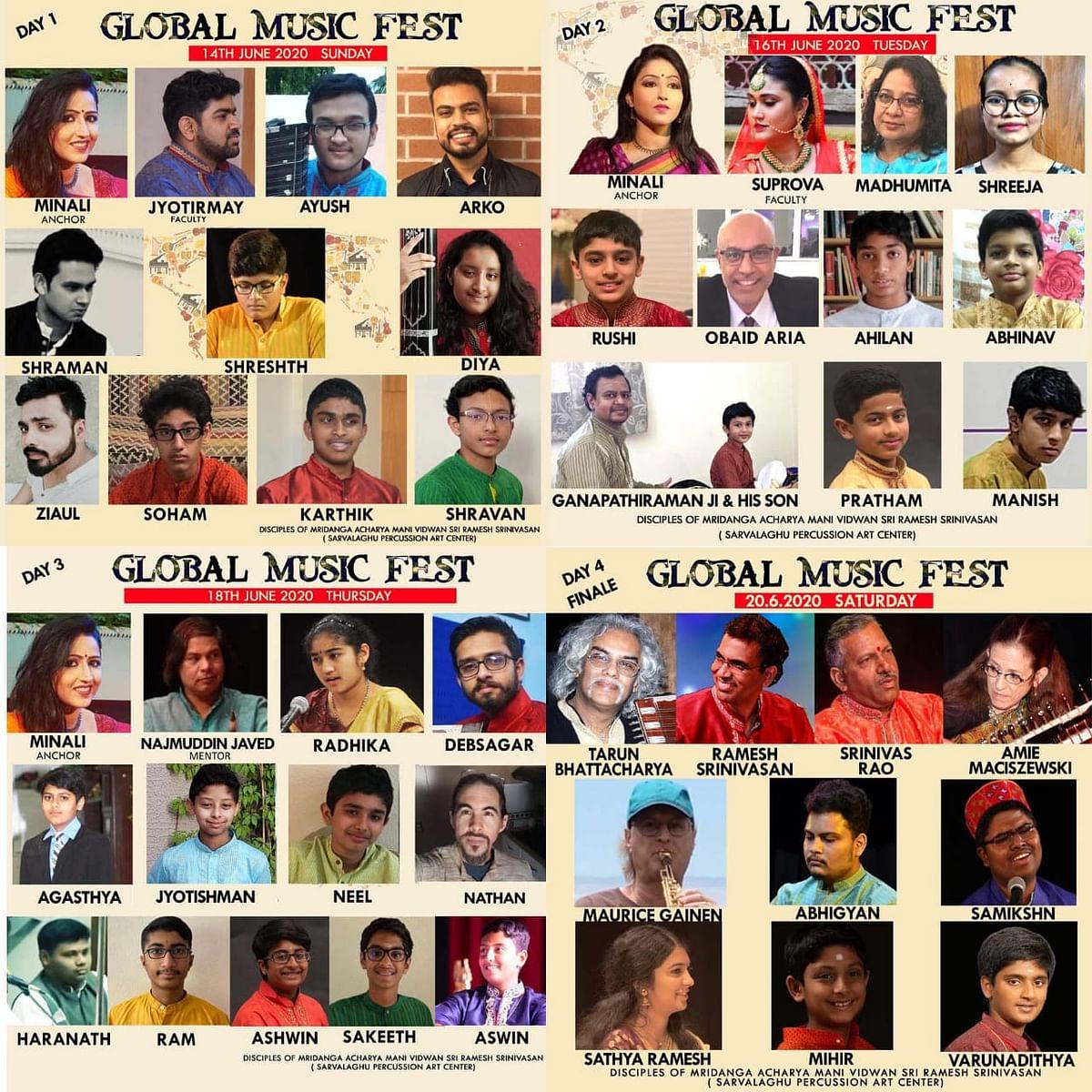 14 जून से ग्लोबल म्युजिक फेस्ट, ऑनलाइन मंच पर जुटेंगे विश्व भर के कलाकार