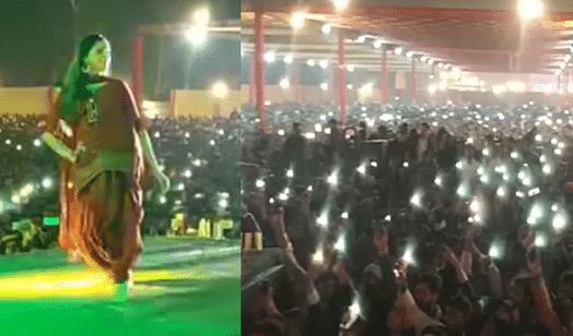 Sapna Choudhary Dance: सपना चौधरी के डांस पर जल उठे फैंस के मोबाइल की फ्लैश लाइट्स, देखें ये गजब वीडियो