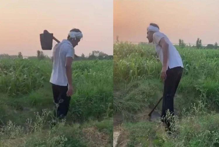 VIDEO : नवाजुद्दीन सिद्दीकी को खेत में काम करते देख फैंस बोले- आसमां की उचाईयां छू ली...