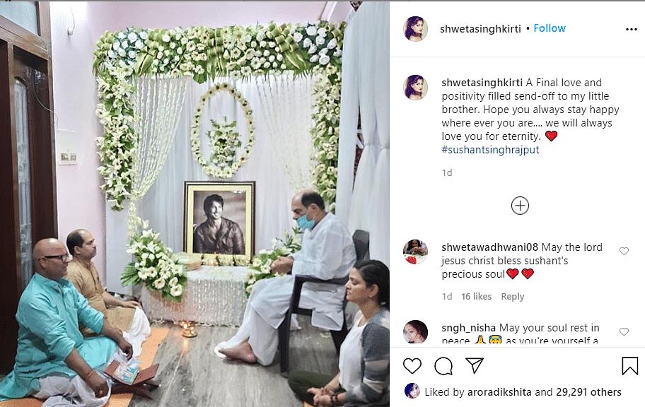 sushant sister post