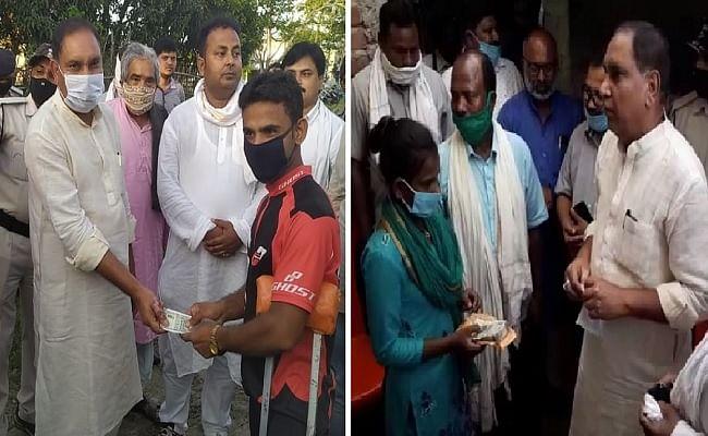 दरभंगा की बेटी ज्योति और साइकिलिस्ट जलालुद्दीन से मिले मंत्री महेश्वर हजारी, हरसंभव मदद का दिया भरोसा