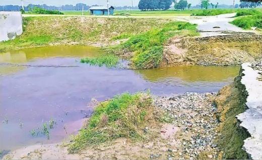 मधुबनी के शाहपुर में पश्चिमी कोसी नहर का बांध टूटा, हजारों एकड़ में लगी फसल बर्बाद