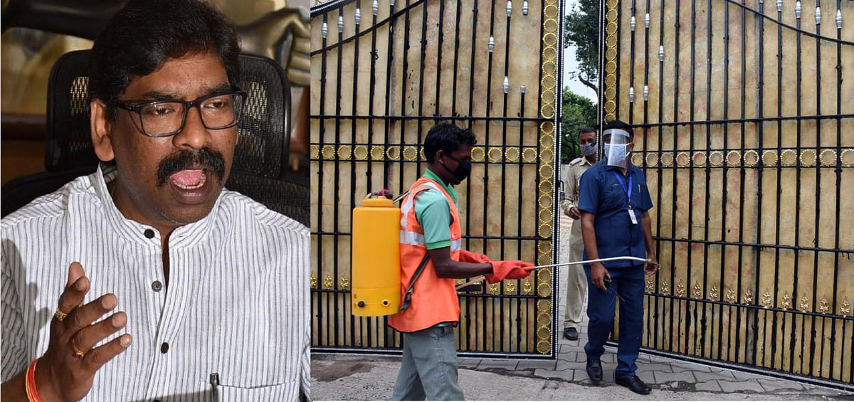 Jharkhand Coronavirus : मंत्री-विधायक के संक्रमित होने के बाद होम कोरेंटिन में मुख्यमंत्री हेमंत सोरेन, सीएम आवास में प्रवेश पर रोक