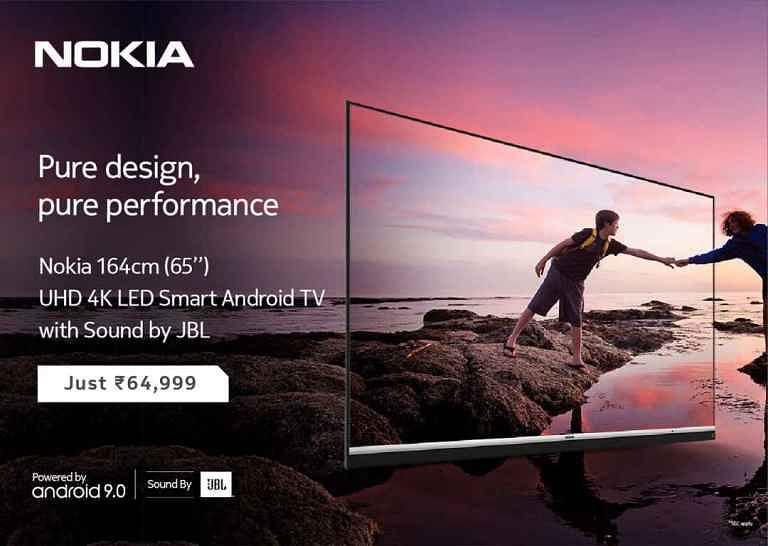 Nokia का 65 इंच 4K एंड्रॉयड स्मार्ट टीवी भारत में लॉन्च, जानें कीमत और सारे फीचर्स