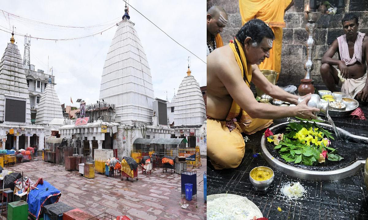 बाबामंदिर में अरघा को लेकर धरना प्रदर्शन, स्पर्श पूजा के लिए धरने पर बैठे तीर्थपुरोहित