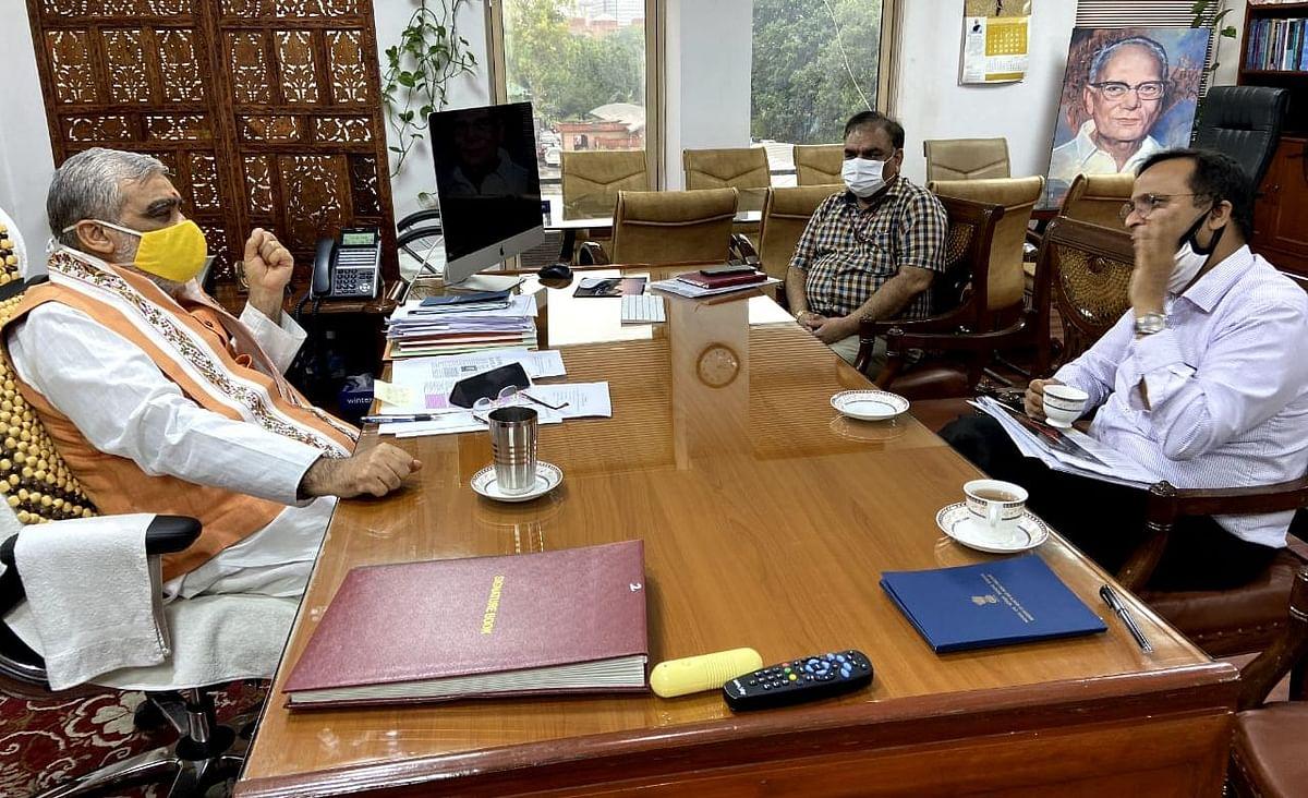 दिल्ली से पटना के 80 डॉक्टरों को वीडियो कॉन्फ्रेंसिंग से दी गयी ट्रेनिंग, केंद्रीय टीम के साथ मंत्री अश्विनी चौबे ने की बैठक
