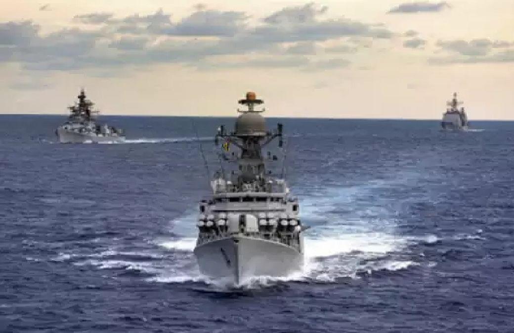 चीन से टकराव के बीच समुद्री सीमा पर भारत ने  अमेरिकी नौसेना के साथ सैन्य अभ्यास किया