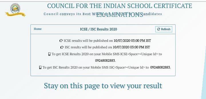 cisce.org , ICSE ISC Result 2020 Live Updates:  सीआईएससीआई का रिजल्ट हुआ घोषित, यहां से जानिए कैसे चेक करें अपना रिजल्ट