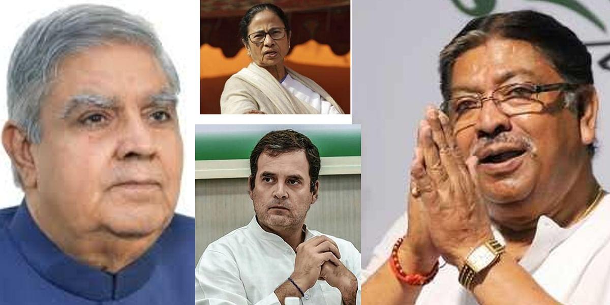 पश्चिम बंगाल के राज्यपाल जगदीप धनखड़, मुख्यमंत्री ममता बनर्जी और राहुल गांधी ने सोमेन मित्रा के निधन पर जताया शोक