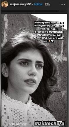 Sanjana Sanghi instagram story