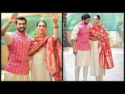 दीपिका पादुकोण और रणवीर सिंह शादी के बाद पहली बार मीडिया के सामने इस अंदाज में नजर आए थे.