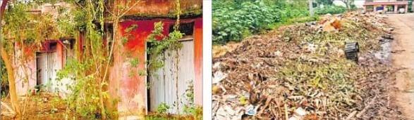 अव्यवस्था व कचरे के ढेर पर बाजार समिति