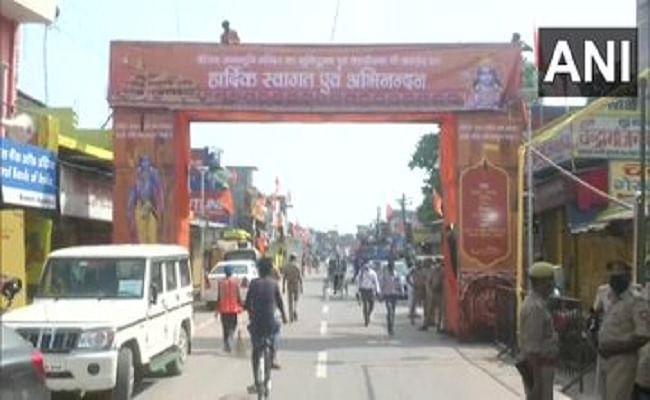 Ayodhya Ram Temple Bhumi Pujan : राम मंदिर के भूमि पूजन के लिये अयोध्या को 'दुल्हन' की तरह सजाया गया