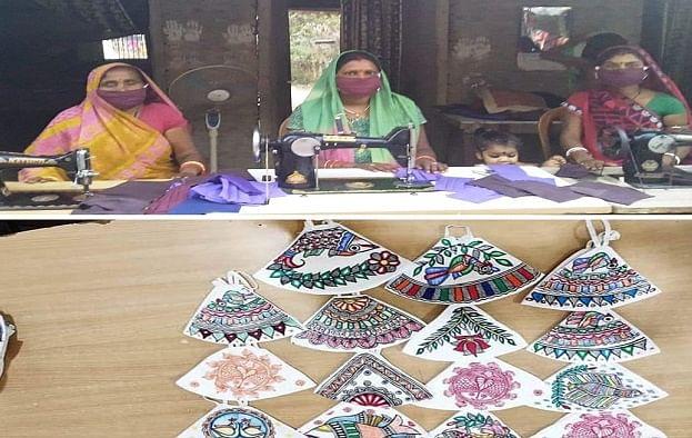 बिहार की जीविका दीदियों ने 4 महीने में की 40 लाख की आमदनी, मिथिला पेंटिंग वाले मास्क ने मचाई धूम