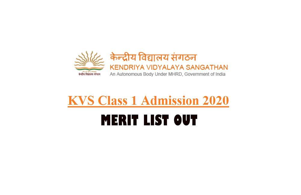 KVS Admissions 2020: केंद्रीय विद्यालय संगठन में कक्षा 1 के प्रवेश के लिए पहली मेरिट सूची जारी