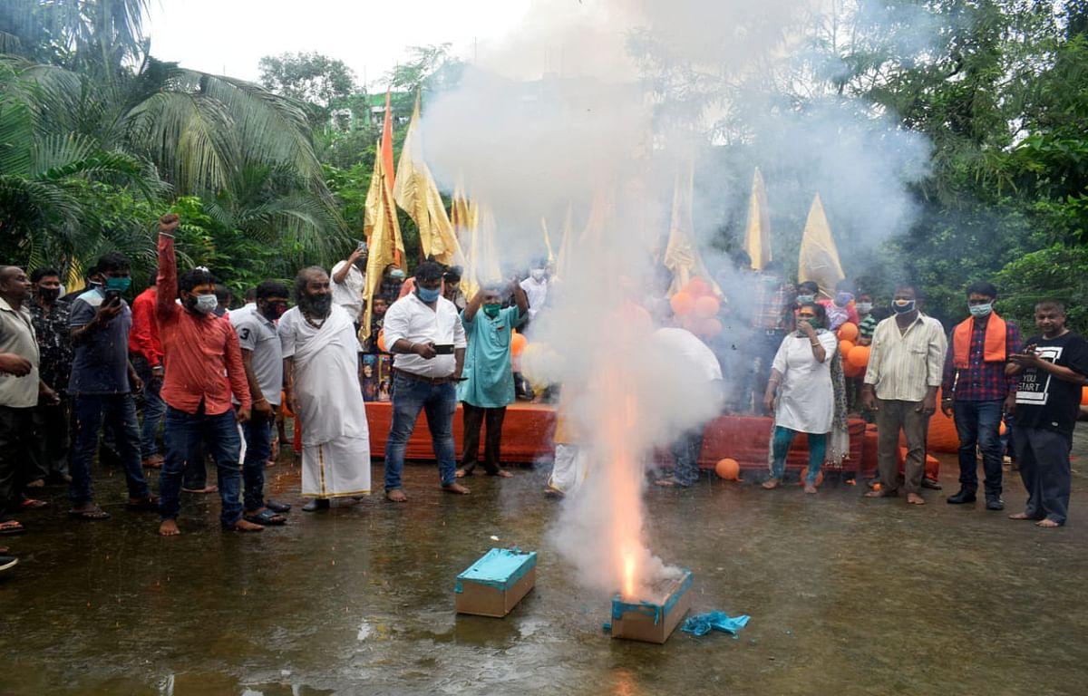 Ram Mandir Bhumi Pujan : लॉकडाउन के बीच कोलकाता में भाजपा समर्थकों ने मनायी खुशियां