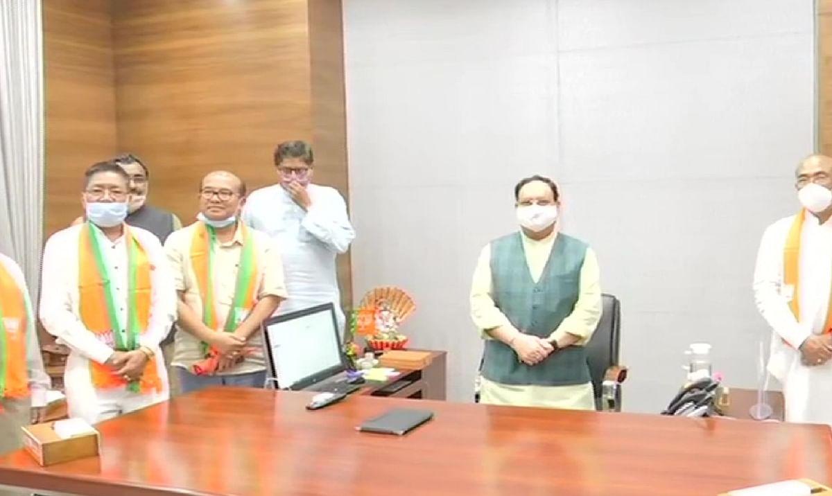 कांग्रेस को बड़ा झटका, मणिपुर के 5 विधायक भाजपा में शामिल
