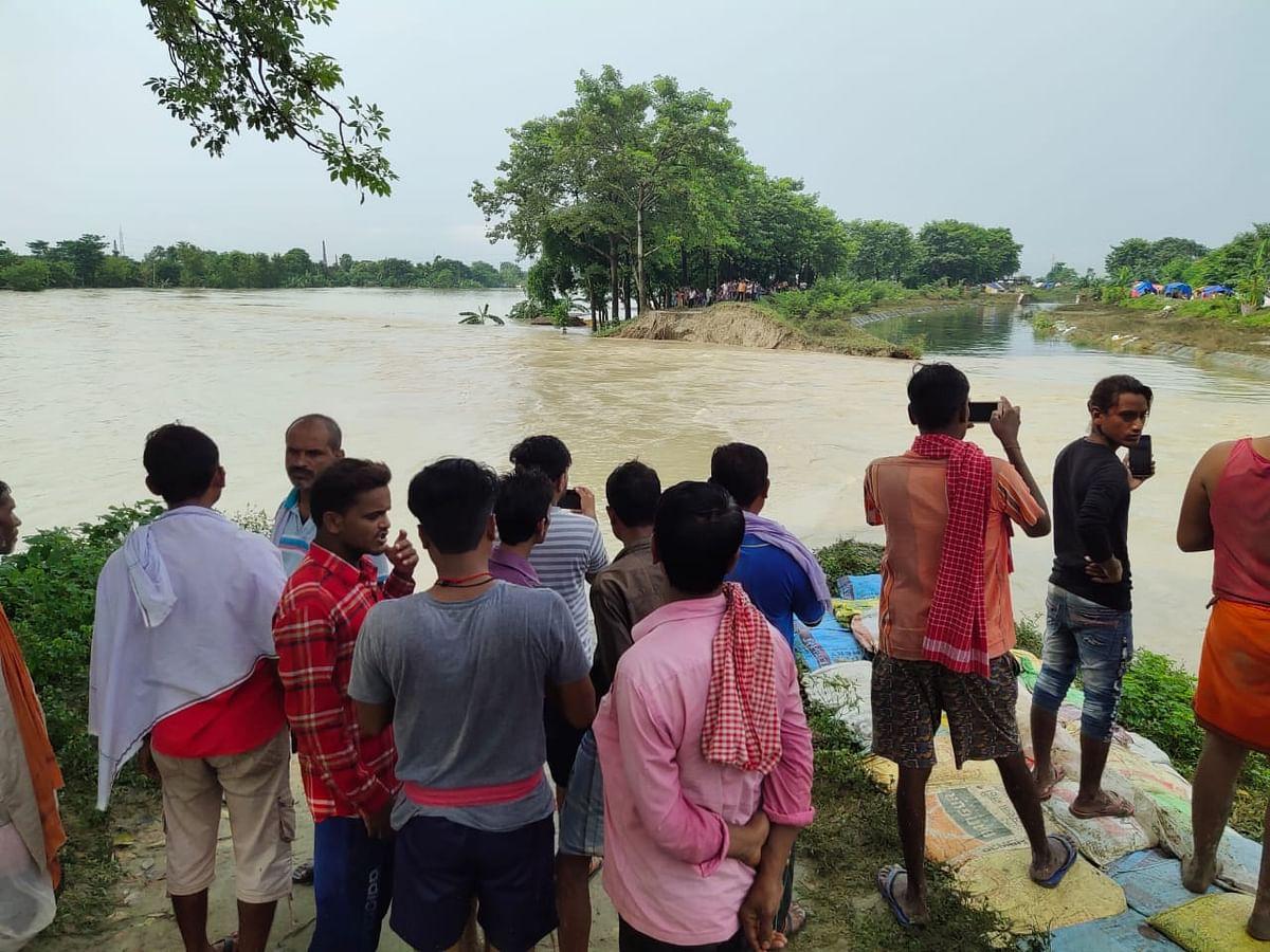 Flood in Bihar : तिरहुत नहर का तटबंध टूटा, मुजफ्फरपुर पूसा रोड मार्ग फिलहाल बंद, देखें तस्वीरें