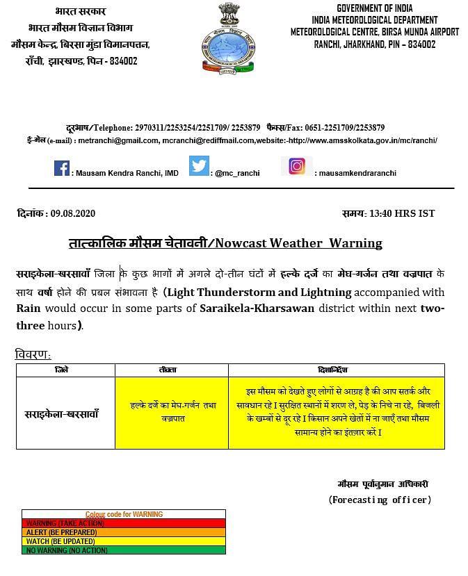 Weather Forecast LIVE Updates Today : झारखंड के इस जिले में कुछ देर में होगी बारिश, जानें यूपी-बिहार सहित देश के अन्य राज्यों का मौसम