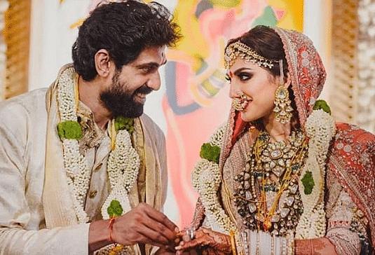 राणा दग्गुबाती ने मिहिका बजाज से की शादी, तसवीरों में देखिए कैसे लग रहे थे दूल्हा-दुल्हन