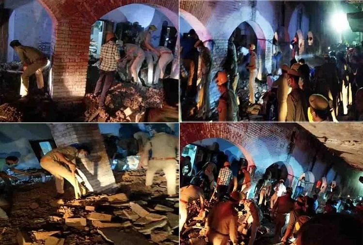 कानपुर पुलिस लाइन में बैरक की छत गिरी, एक सिपाही की मौत, तीन की हालत बेहद नाजुक
