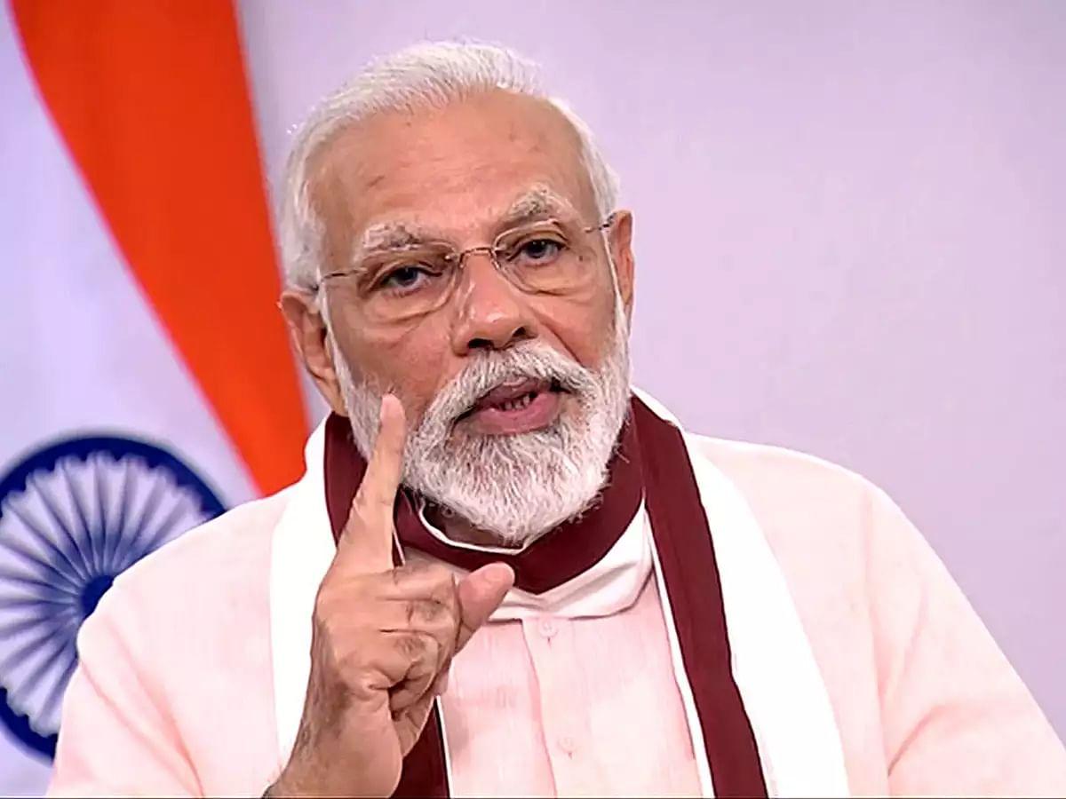 पीएम मोदी ने लालू प्रसाद पर साधा निशाना, नीतीश कुमार को दिया बिहार में सुशासन का श्रेय